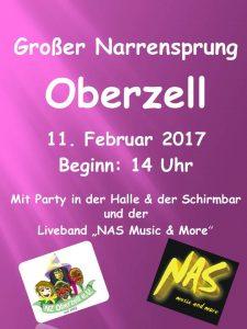 Großer Narrensprung Oberzell am 11. Februar 2017